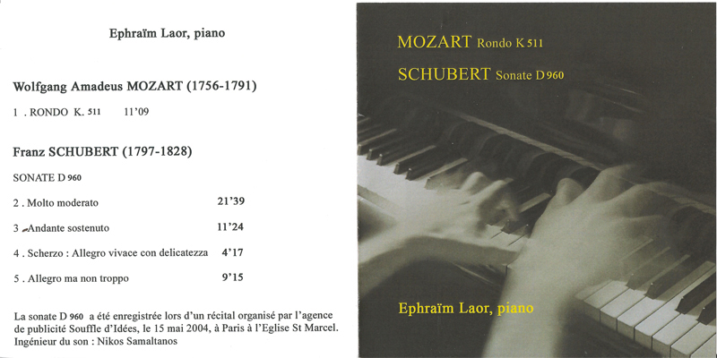 cd extraits,rondo, sonate, pianiste cd Mozart Schubert