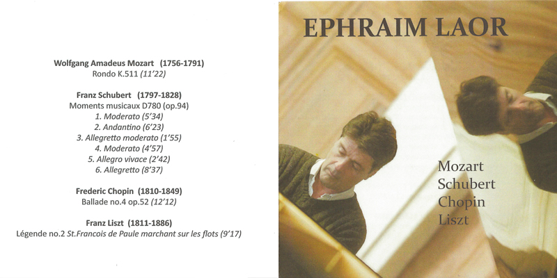 cd extraits Ephraim Laor pianiste cd Mozart Schubert Chopin Liszt